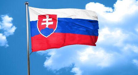 Slovakia flag waving in the wind