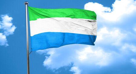 sierra: Sierra Leone flag waving in the wind