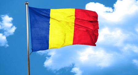 romania flag: Romania flag waving in the wind