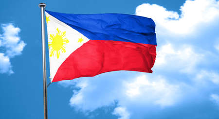philippino: Philippines flag waving in the wind