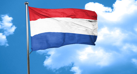 netherlands flag: Netherlands flag waving in the wind Stock Photo