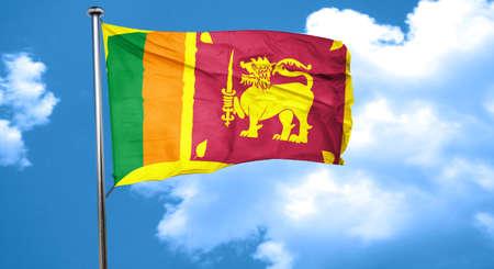 sri: Sri lanka flag waving in the wind Stock Photo