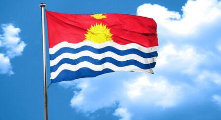 kiribati: Kiribati flag waving in the wind Stock Photo