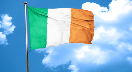 irish culture: Ireland flag waving in the wind