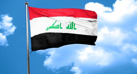iraq flag: Iraq flag waving in the wind Stock Photo