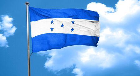 bandera de honduras: Honduras bandera ondeando en el viento