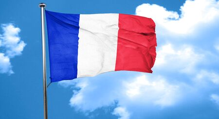 french culture: France flag waving in the wind