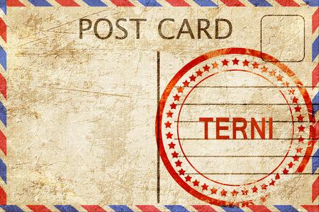 terni: Terni, a rubber stamp on a vintage postcard