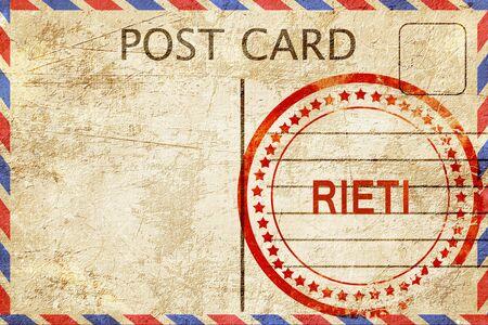 rieti: Rieti, a rubber stamp on a vintage postcard
