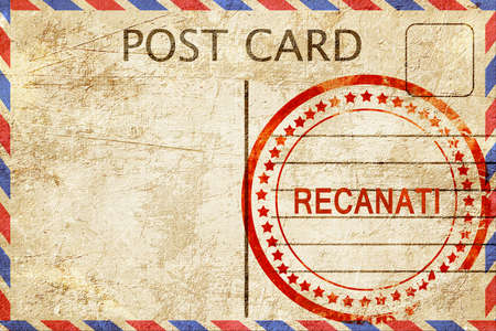 recanati: Recanati, a rubber stamp on a vintage postcard