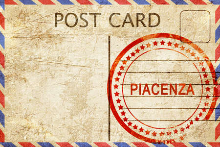 piacenza: Piacenza, a rubber stamp on a vintage postcard