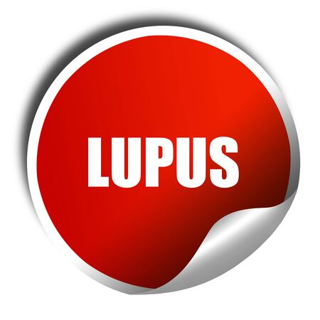 lupus: lupus, 3D rendering, red sticker with white text