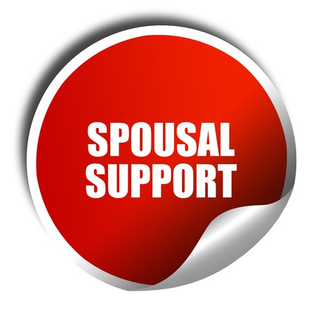 spousal: spousal support, 3D rendering, red sticker with white text Stock Photo