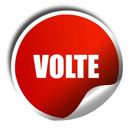 volte: volte dance, 3D rendering, red sticker with white text