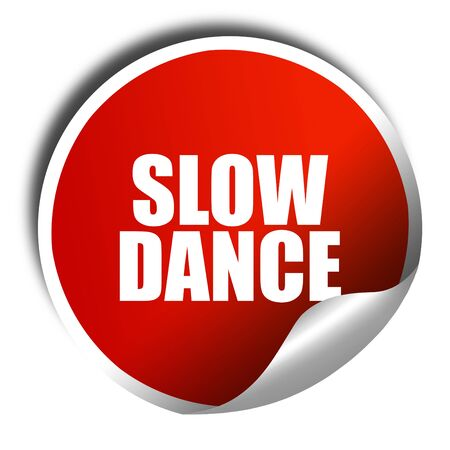 3d dance: slow dance, 3D rendering, red sticker with white text Stock Photo