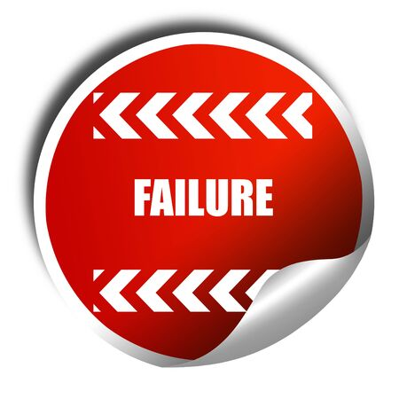 looser: Failure sign with some smooth lines and highlights, 3D rendering, red sticker with white text
