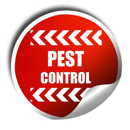 contagious: Pest control background with some smooth lines, 3D rendering, red sticker with white text