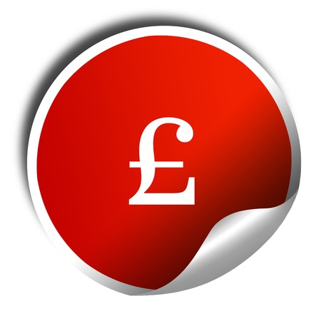 pound sign: pound sign, 3D rendering, red sticker with white text