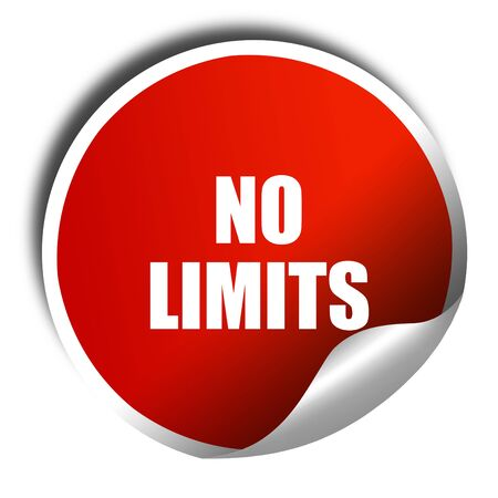 limits: no limits, 3D rendering, red sticker with white text Stock Photo