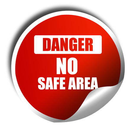 hazardous area sign: apocalypse danger background on a grunge background, 3D rendering, red sticker with white text