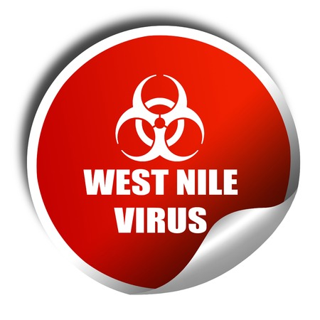 white nile: West nile virus concept background, 3D rendering, red sticker with white text