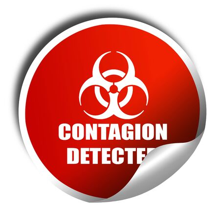 contagion: contagion concept background, 3D rendering, red sticker with white text