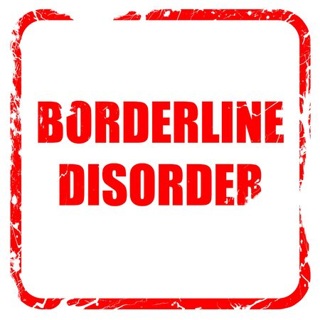 borderline: Borderline sign background with some soft smooth lines, red rubber stamp with grunge edges