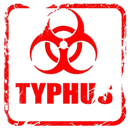 typhus: Typhus concept background with some soft smooth lines, red rubber stamp with grunge edges Stock Photo