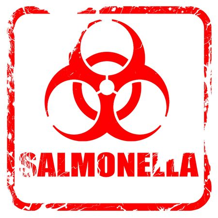 salmonella: Salmonella concept background with some soft smooth lines, red rubber stamp with grunge edges