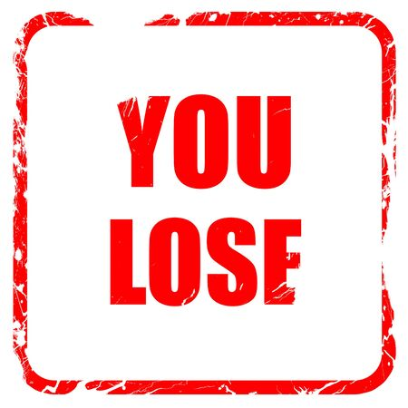defeated: you lose, red rubber stamp with grunge edges Stock Photo