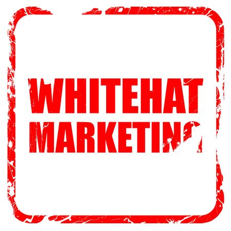 spamdexing: whitehat marketing, red rubber stamp with grunge edges