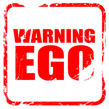 narcissism: warning ego, red rubber stamp with grunge edges Stock Photo