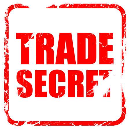 trade secret: trade secret, red rubber stamp with grunge edges