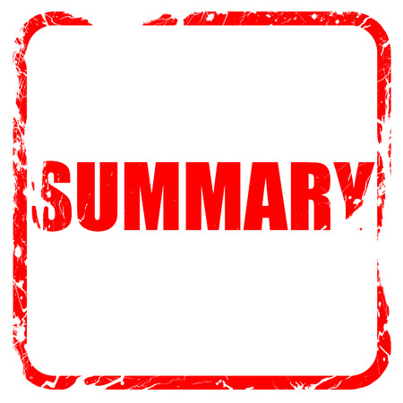 compendium: summary, red rubber stamp with grunge edges
