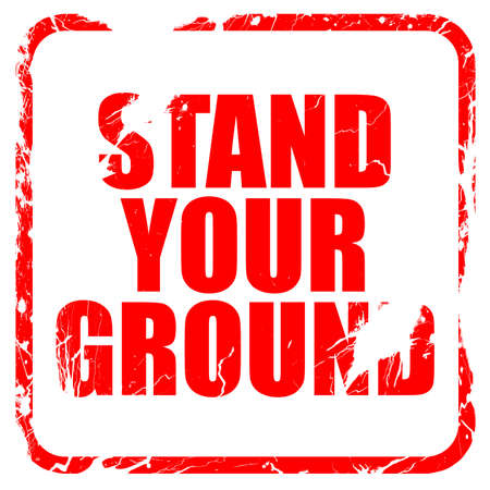 self harm: stand your ground, red rubber stamp with grunge edges