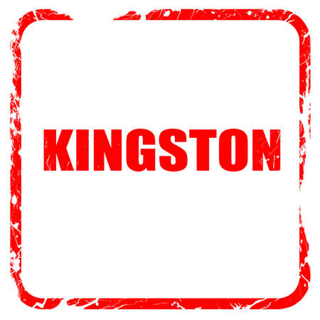 kingston: kingston, red rubber stamp with grunge edges