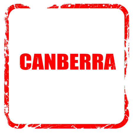 Canberra: canberra, red rubber stamp with grunge edges