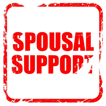 spousal: spousal support, red rubber stamp with grunge edges