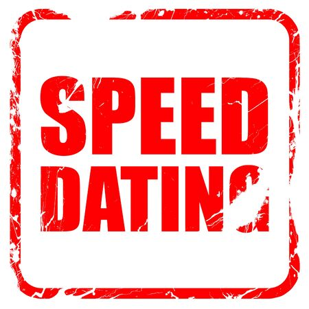 speed dating: speed dating, red rubber stamp with grunge edges