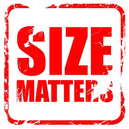 favoring: size matters, red rubber stamp with grunge edges Stock Photo