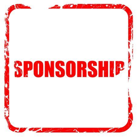 sponsorship: sponsorship, red rubber stamp with grunge edges Stock Photo
