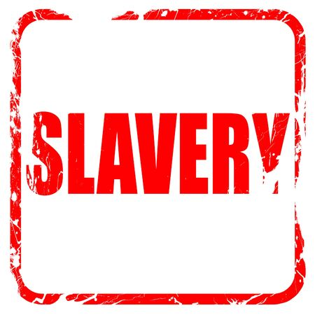 slavery: Slavery sign background with some smooth lines, red rubber stamp with grunge edges Stock Photo