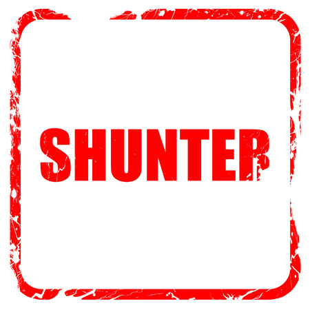 shunt: shunter, red rubber stamp with grunge edges Stock Photo