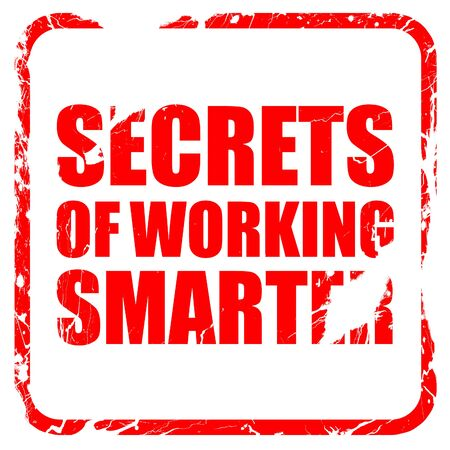 smarter: secrects of working smarter, red rubber stamp with grunge edges Stock Photo