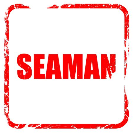seaman: seaman, red rubber stamp with grunge edges