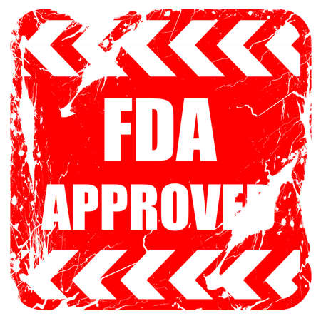 fda: FDA approved background with some smooth lines, red rubber stamp with grunge edges
