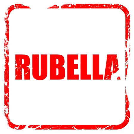 rubella: rubella, red rubber stamp with grunge edges