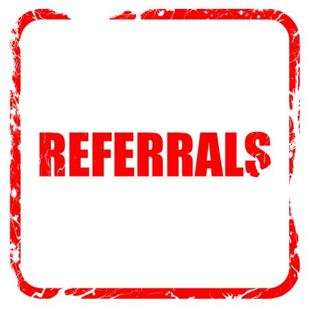 referrals: referrals, red rubber stamp with grunge edges Stock Photo