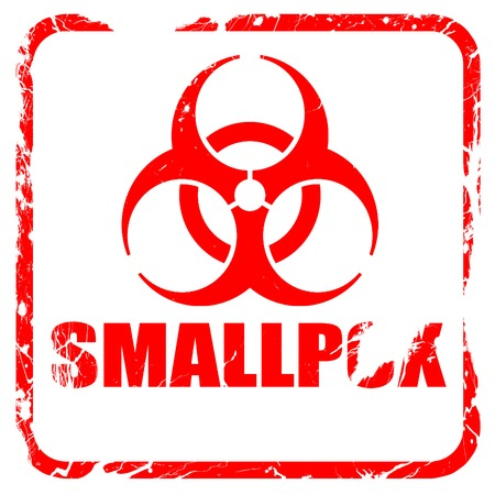 smallpox: smallpox concept background with some soft smooth lines, red rubber stamp with grunge edges