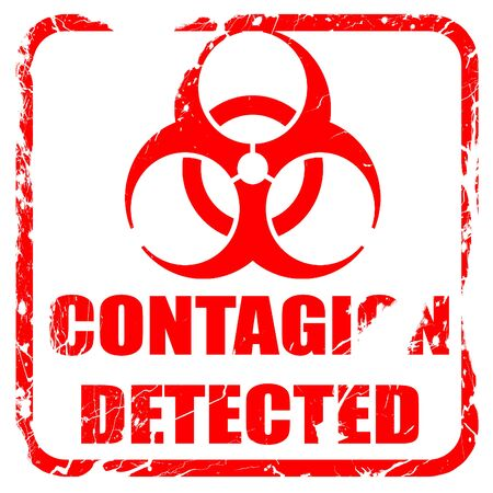 contagion: contagion concept background with some soft smooth lines, red rubber stamp with grunge edges